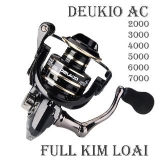 Máy Câu Cá kim loại Deukio AC 2000 - 3000 - 4000 - 5000 - 6000 - 7000 - máy câu lure, máy câu đứng máy câu cá ( Ngu Long ) thumbnail