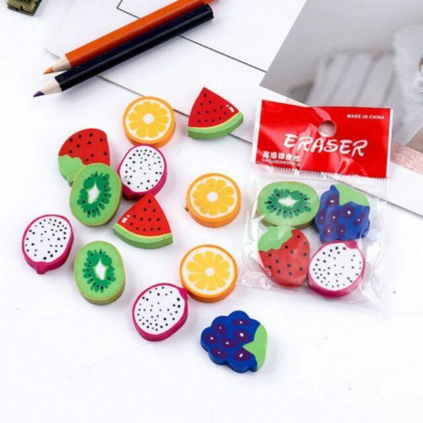 Combo 16 cục gôm tẩy chì hình trái cây cute dễ thương
