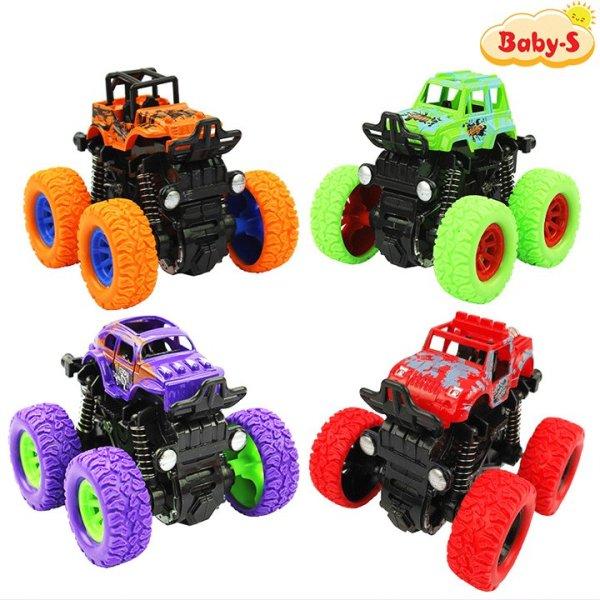 Xe ô tô bánh đà vượt địa hình, Xe đồ chơi cho bé trai nhào lộn 360 độ chạy đà cực mạnh bằng nhựa nguyên sinh ABS Baby-S – SDC056