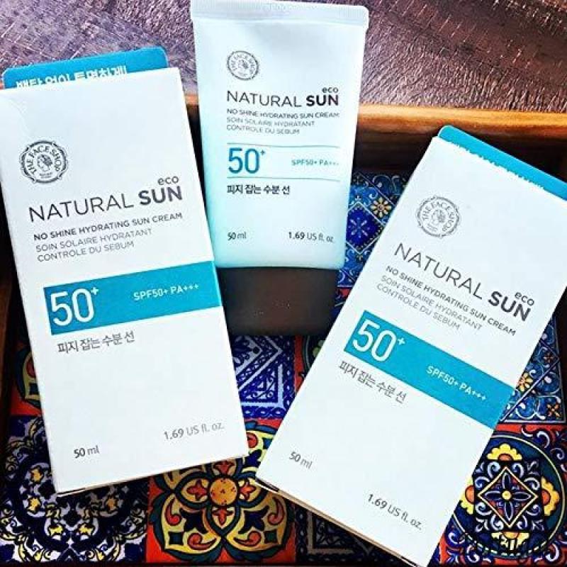Kem Chống Nắng Kiềm Dầu Hoàn Hảo The Face Shop Natural Sun Eco No Shine Hydrating Sun Cream SPF50 PA+++50ml nhập khẩu