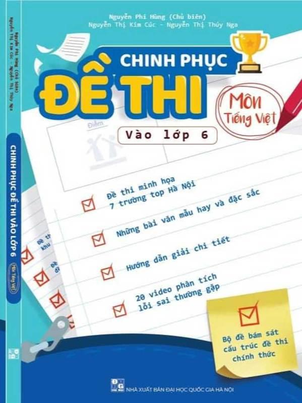 Mua Chinh phục Đề thi vào lớp 6 Môn Tiếng Việt
