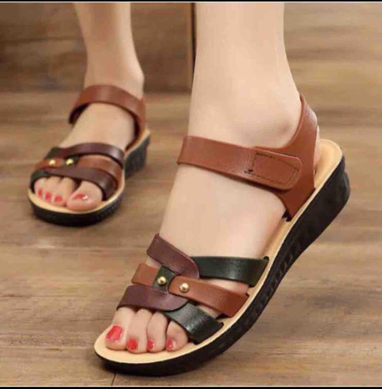 Dép sandal quai hậu nữ da mềm cực xinh mã VA01 giá rẻ
