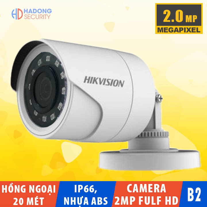 Camera Hikvision DS-2CE16B2-IPF 2MP 4 chế độ Hồng ngoại 20m