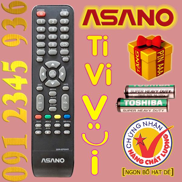 Bảng giá Điều khiển ASANO mã số 2200-EP00AS cho Tivi thường. (Mẫu số 03)