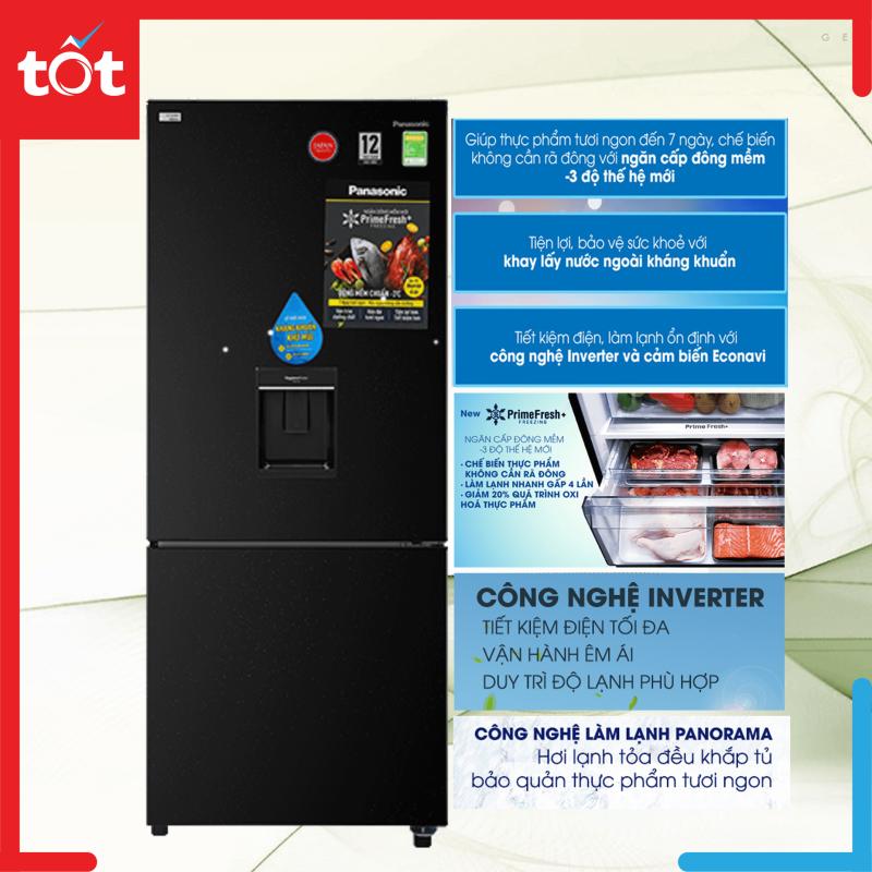 Tủ lạnh Panasonic Inverter 368 lít NR-BX410WKVN Mẫu 2020
