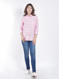 Quần Jean O.jeans - Skinny Họa TIết Lưng Vừa Nữ - QJD20020FW thumbnail
