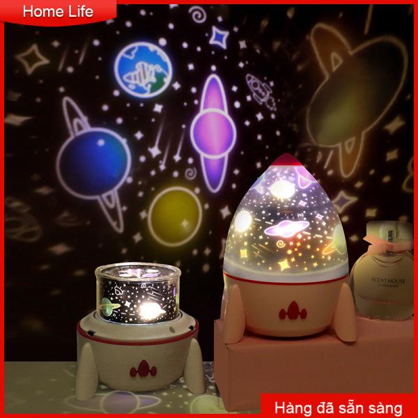 đèn led ban đêm bầu trời đầy sao máy chiếu đèn sạc xoay tên lửa nhỏ điều khiển từ xa 6 cái đèn máy chiếu giấc mơ đèn bầu trời đầy sao Usb Colorful Night Light Table Lamp Atmosphere Light