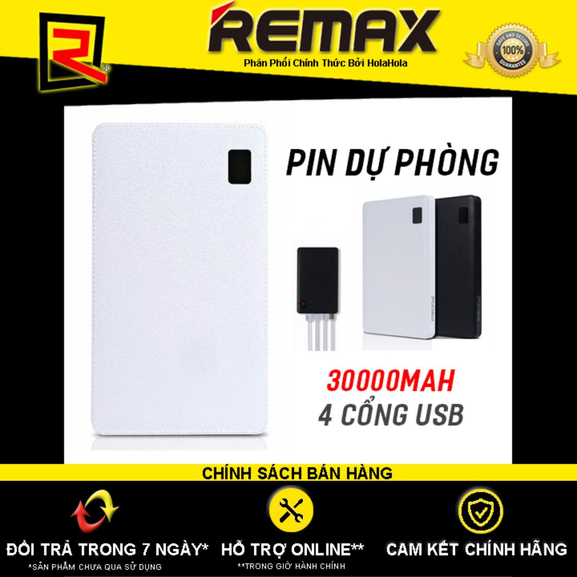 Pin Dự Phòng Remax Proda Notebook 30000mah 4 cổng USB - Hãng Phân Phối Chính Thức