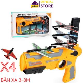 Đồ chơi bắn máy bay cho bé, kèm 4 máy bay mô hình, bắn xa 3-8m, Đồ chơi vận động ngoài trời cho bé, bắn máy bay đồ chơi chất lượng cao Dũng YenLuong thumbnail