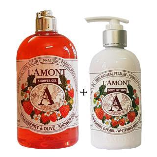 Sữa Tắm 500ml và Dưỡng thể 250ml LAmont En Provence Hương Dâu Tây thumbnail