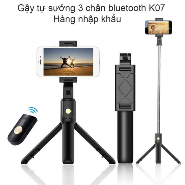 gậy chụp hình tripod , Gậy Chụp Hình , Gậy Chụp Hình Có Chân Đứng , Gậy Chụp Hình Bluetooth , Gậy Chụp Ảnh Bluetooth  K07 Đen , Thiết Kế Nhỏ Gọn Nhưng Cứng Cáp Và Vô Cùng Tiện Lợi, Thân Gậy Có Thể Kéo Dài Đến 63cm , Sale 50%