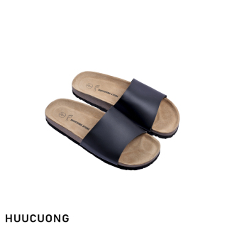 Dép HuuCuong 1 quai đen đế trấu thumbnail