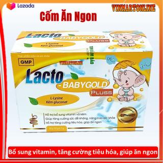 Cốm Ăn Ngon Lacto Baby Gold Pluss- Hỗ trợ bổ sung vitamin, kẽm, giúp bé ăn ngon, giảm rối loạn tiêu hóa, táo bón, tiêu chảy - Hộp 30 gói thumbnail