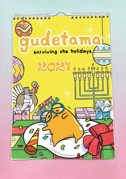 Lịch treo tường gudetama trứng lười 2021 A4 13 tờ LA4I24 Lịch treo tường dễ thương