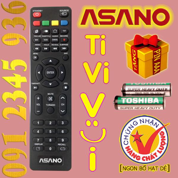 Bảng giá Điều khiển ASANO cho Tivi Smart. (Mẫu số 1)
