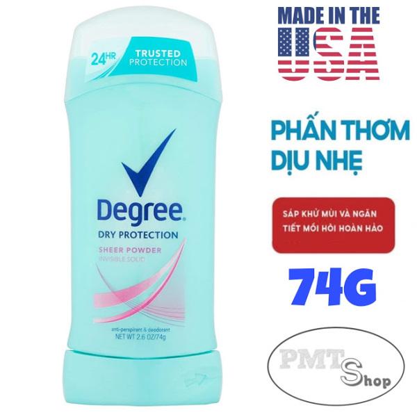 [USA] Lăn sáp khử mùi nữ Degree Women Sheer Powder invisible solid 74g ngăn mồ hôi suốt 24h - Mỹ cao cấp