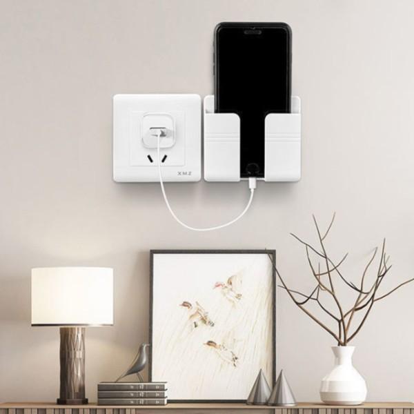 Kệ để điều khiển điện thoại dán tường, Giá đỡ điện thoại điều khiển có sẵn miếng dán tường tiện lợi
