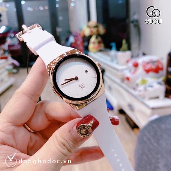 Đồng hồ Nữ GUOU Dây Silicone Cao Cấp, Chống Nước, Chống Phai Màu, Bảo Hành Máy 12 Tháng Toàn Quốc bán chạy