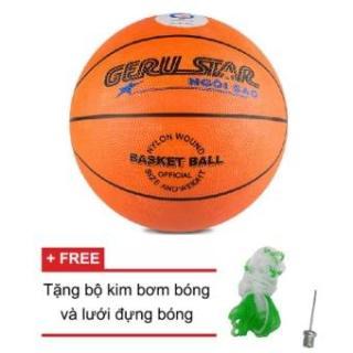 [Lấy mã giảm thêm 30%]Quả bóng rổ Gerustar số 5 và Tặng kim bơm bóng + lưới thumbnail