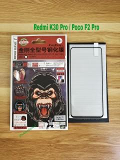 Kính cường lực Xiaomi Redmi K30 Pro Poco F2 Pro hiệu Kingkong Full màn viền mỏng chất đẹp cao cấp thumbnail