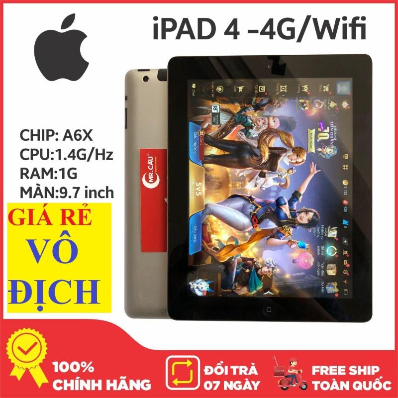 Máy tính bảng IPAD4 Quốc tế 4G/Wifi - tặng phụ kiện