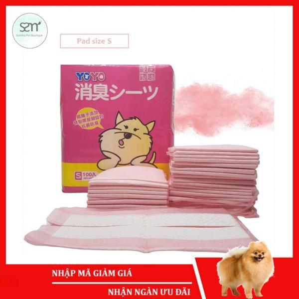 Tã lót cho chó mèo thú cưng Sumiho size S 33cmx45cm (100 cái) hương phấn