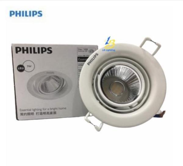 [HÌNH ẢNH THẬT] Đèn Led Chiếu Điểm 59776 7W Philips [CHÍNH HÃNG] Góc chiếu linh hoạt, thiết kế đẹp, Chiếu Sáng tốt
