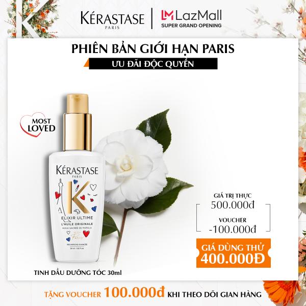 [KHAI TRƯƠNG ĐỘC QUYỀN 22/6 - Phiên bản giới hạn] Tinh dầu dưỡng tóc chắc khỏe Kerastase Elixir Ultime 30ml cao cấp