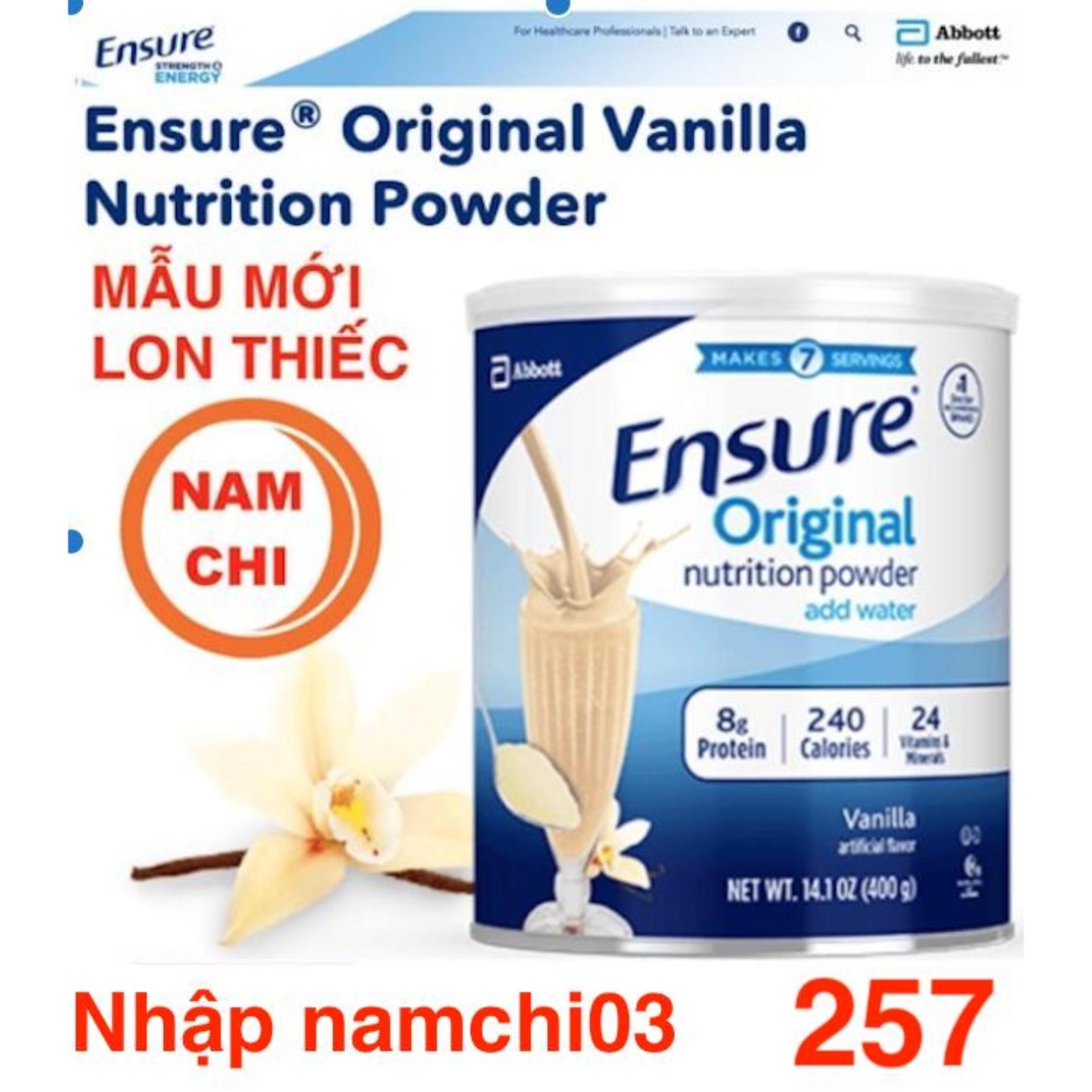Sữa Bột Ensure Mỹ Original Nutrition Powder 397g ( 100% Usa ) By Bách Hóa Nam Chi.