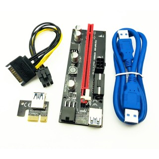 Thẻ đồ họa PCI-E Riser 009S 16X cổng USB 3.0 dành riêng cho bộ điều hợp cáp mở rộng PCIE chất lượng cao 3