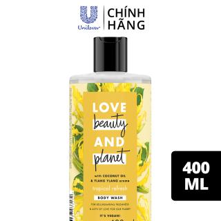 Sữa tắm Love Beauty And Planet lưu hương nồng nàn với 100% tinh dầu ngọc lan tây, 400ml thumbnail