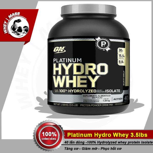 Thực Phẩm Bổ Sung Optimum Nutrition Platinum Hydro Whey 3.5lb (1.58kgs) 40 Lần Dùng Từ Mỹ