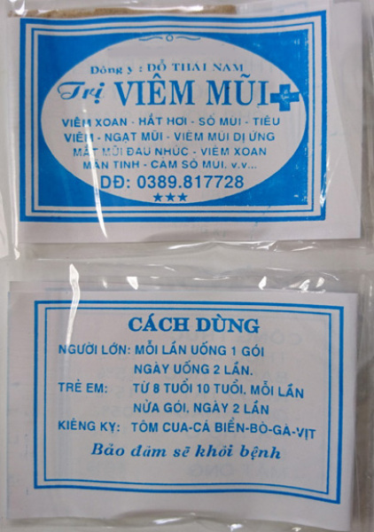 100 Gói Viêm mũi Đỗ Thái Nam (Bột) Chính gốc
