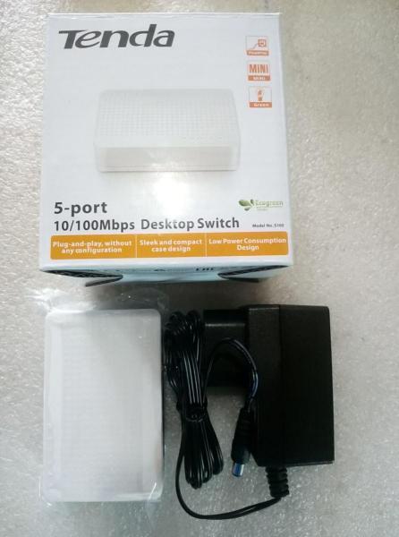 Bộ chia mạng Switch 5 port 10/100 Tenda S105 (5 cổng)