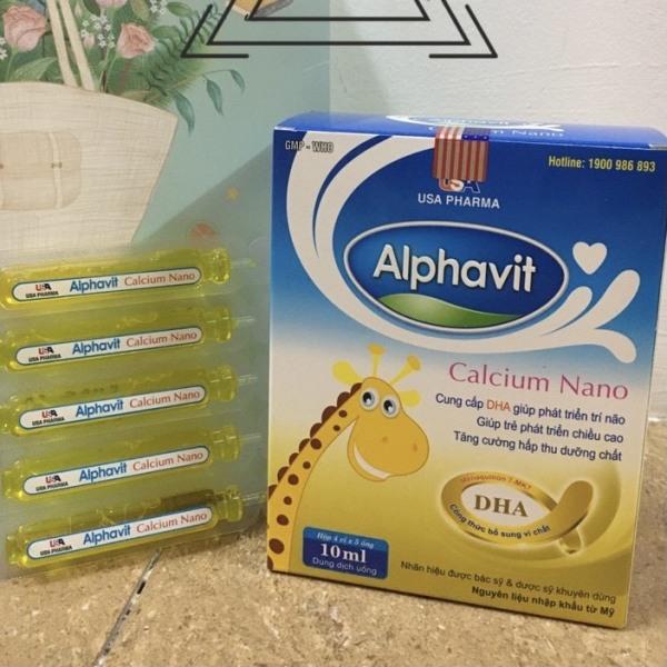 Alphavit Calci Nano tăng cường canxi cho hệ xương chắc khỏe bé thông minh cho bé hộp 20 ống, sản phẩm có nguồn gốc xuất xứ rõ ràng, đảm bảo chất lượng, dễ dàng sử dụng nhập khẩu