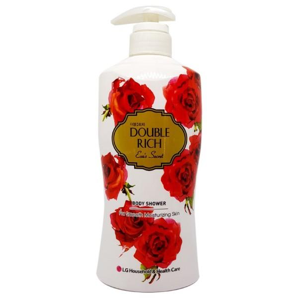 Sữa tắm dưỡng ẩm Double Rich hương hoa hồng chai 550g, cam kết sản phẩm đúng mô tả, chất lượng đảm bảo giá rẻ