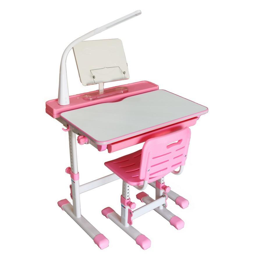 Bộ bàn học thông minh chống gù Kachi MK102-Màu hồng