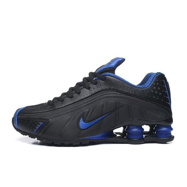 NK Fashion Running Shoes Shox R4 Men Black Silver Shoes Breathable Waterproof Men Column Sneakers Comfatable R4-10 40-46