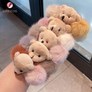 Cột Tóc Lông Xù Cao Cấp Đính Gấu Siêu Cute 8
