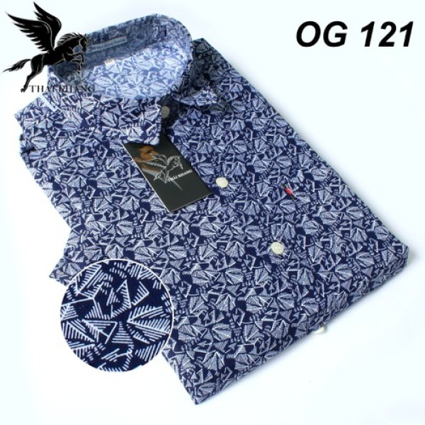 Áo sơ mi trung niên nam vải Kate mềm mát size 55-85kg - Thái Khang SM1101