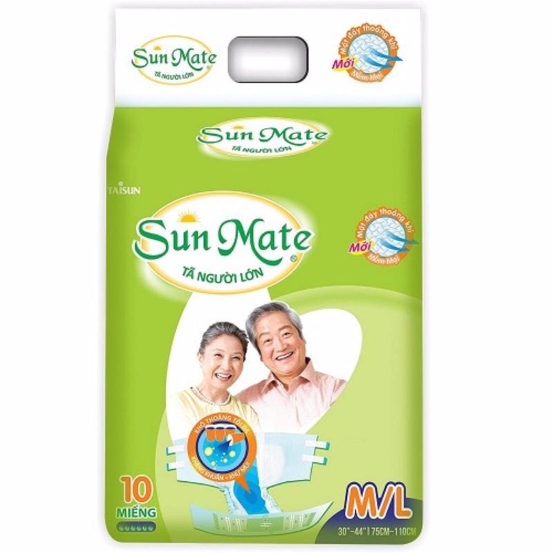 Tã người lớn Sunmate size ML10  (vòng bụng 75-110cm) tốt nhất