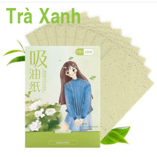 [HCM]GIẤY THẤM DẦU 100 TỜ TINH CHẤT HOA NHÀI thumbnail