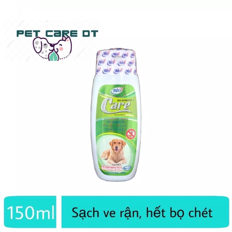 Sữa tắm cho chó diệt ve rận bọ chét- Bio Care 150ml cho chó mèo