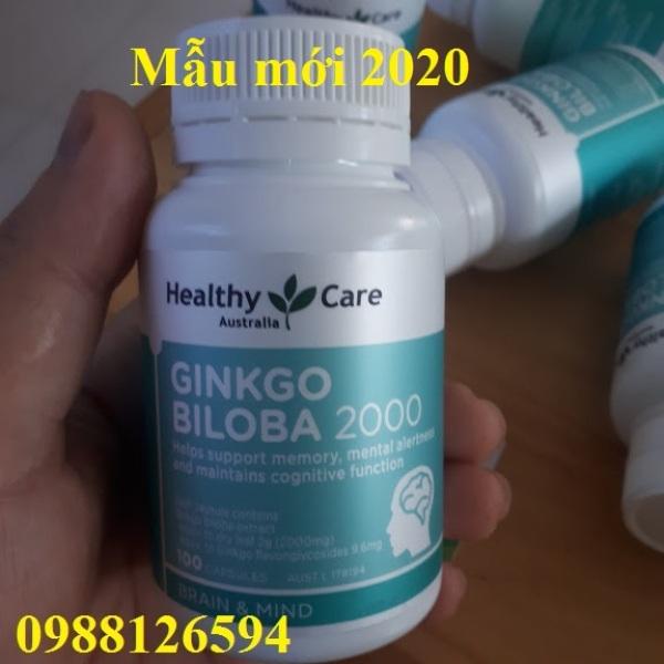 Viên bổ não Healthy Care Ginkgo Biloba 2000mg 100 viên của Úc mẫu mới nhập khẩu