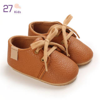 1 Đôi Giày Em Bé 27 Trẻ Em, Giày Trẻ Tập Đi Đế Cao Su Mềm Pu Cho Bé 3-12 Tháng Tuổi Nhé