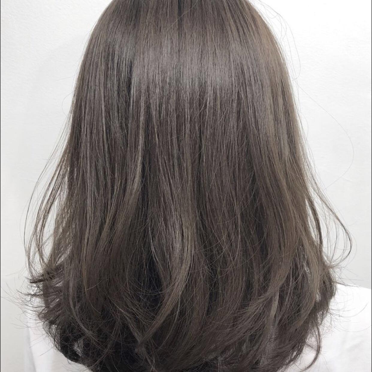 Nhuộm tóc màu cafe/socola cho tóc dài cao cấp