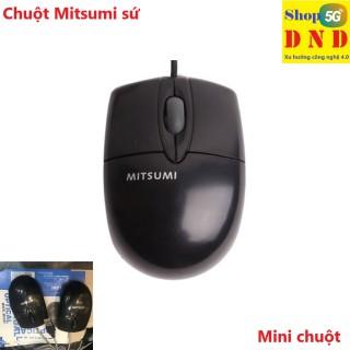 Chuột dây Mitsumi sứ nhỏ (dây trắng) thiết kế nhỏ nhắn dễ mang theo, chuột nhạy, dễ bấm thumbnail