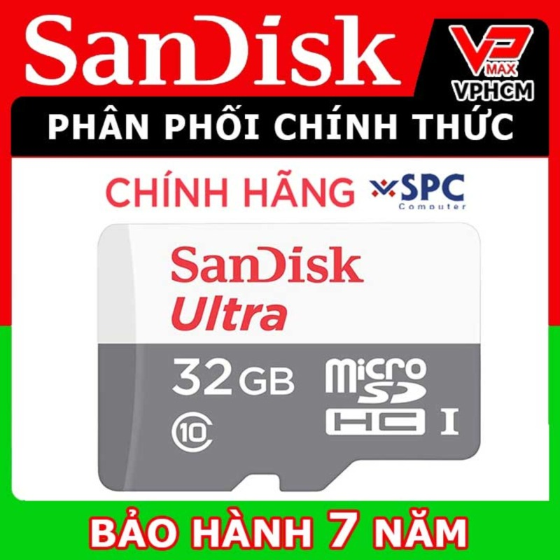 Thẻ nhớ Sandisk 32GB, 64GB, 16GB tốc độ cao 80MB siêu bền dùng cho điện thoại camera