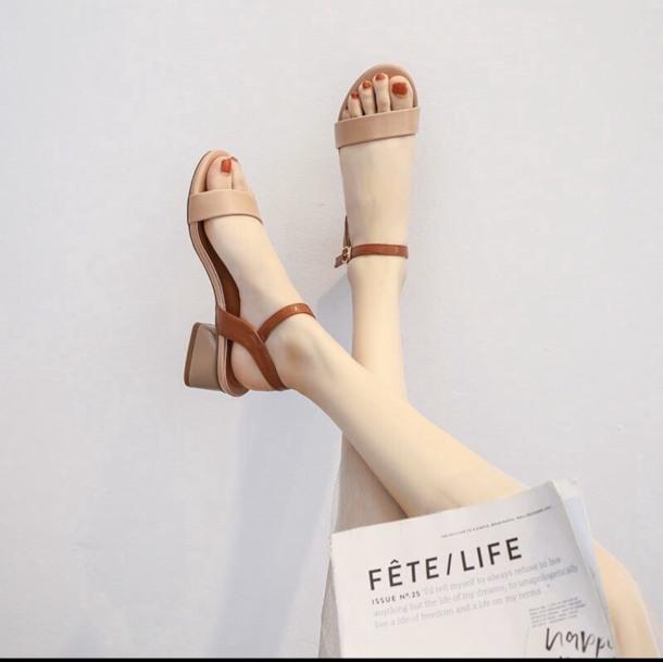 S31-Sandal nữ quai ngang phối màu đế 3cm thời trang cao cấp giá rẻ
