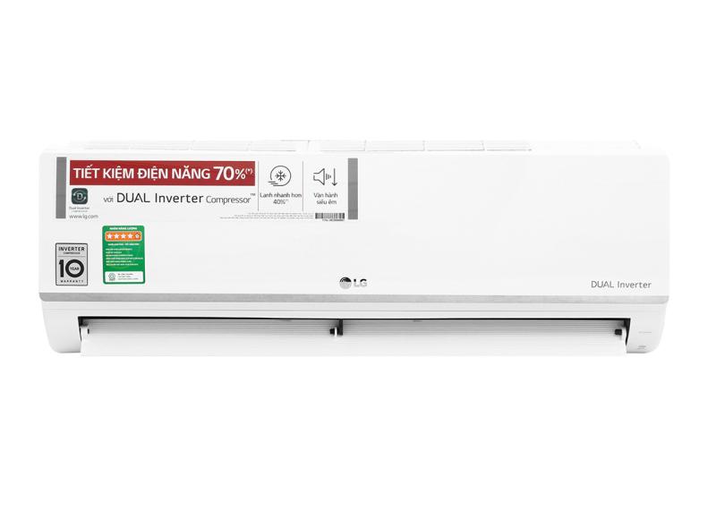 Máy lạnh LG Inverter 1 HP V10ENW, Động cơ Dual Inverter - làm lạnh nhanh hơn 40%, tiết kiệm điện lên đến 70%, vận hành êm ái - Bảo hành 12 tháng
